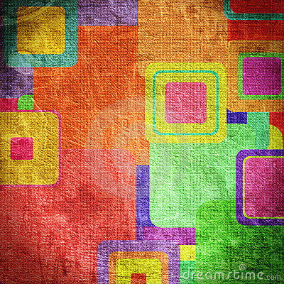 Free Squares On The Grunge Wall Stock Photography - 13681582