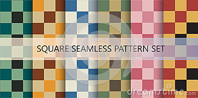 Squares seamless pattern background