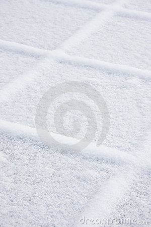 Squares of snow