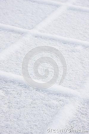 Squares of snow