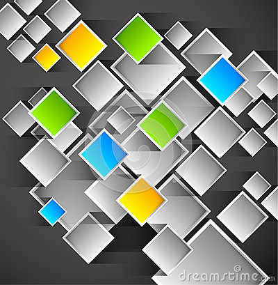 Squares template abstract background
