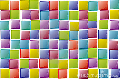 Squares texture random