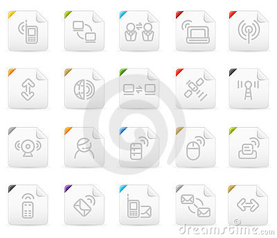 Squaro icon set: Wireless Technology