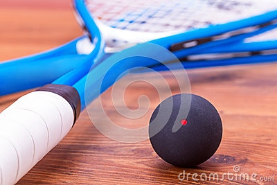 Squash rackets and ball