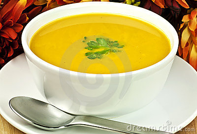 Squash soup for fall