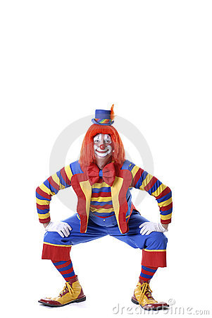 Squatting Circus Clown Stock Image - Image: 1810631