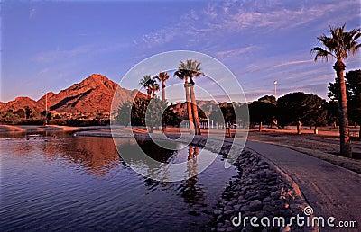 Squaw Peak at Sunset in Phoenix