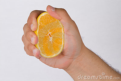 Squeeze the orange