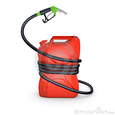 Free Squeezed Fuel Canister Royalty Free Stock Photography - 6078337