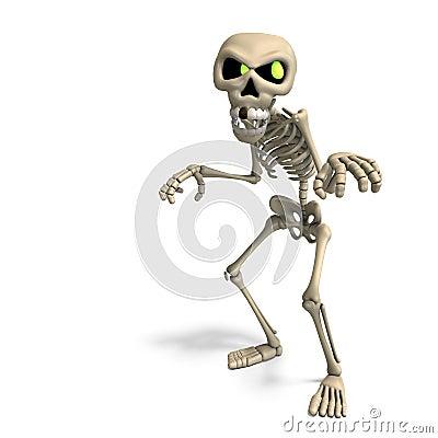 Squelette très drôle de dessin animé