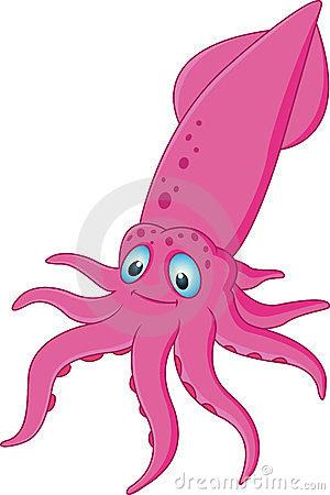 Squid cartoon