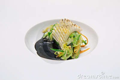 Squid and vegetables dish