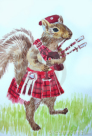 Squirrel Bagpiper