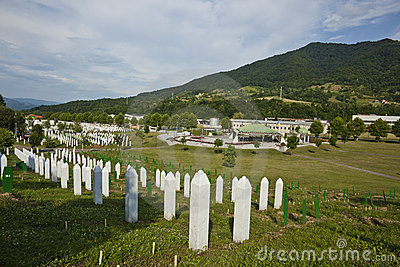 Srebrenica - Potocari, Bosnia and Herzegovina Editorial Image
