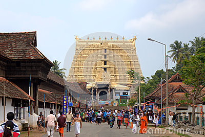 Sree Padmanabhaswamy Temple. Thiruvananthapuram (Trivandrum), Kerala, India Editorial Image