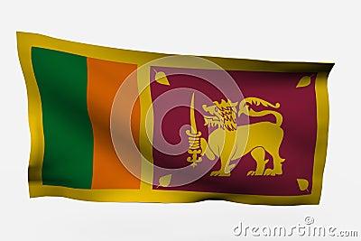 Sri Lanka 3d flag