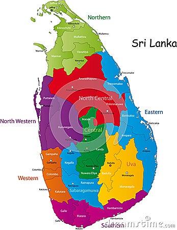 Free Sri Lanka Map Royalty Free Stock Images - 9073839