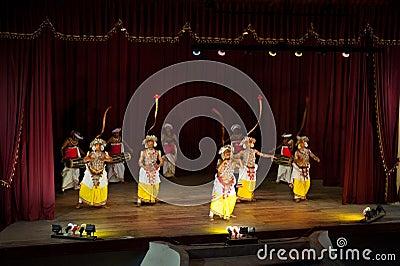 Sri Lankan dancers Editorial Stock Photo