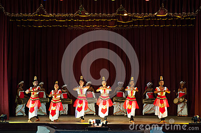 Sri Lankan dancers Editorial Photo