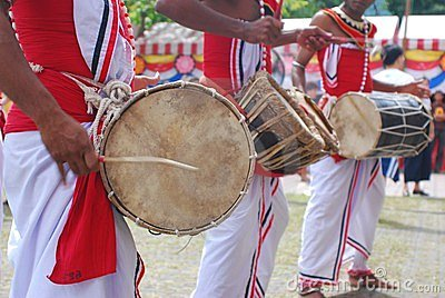 Sri Lankan drummers in Wesak festival