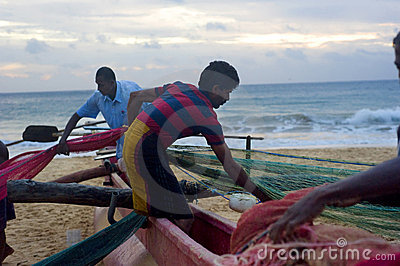 Sri Lankan fishermen Editorial Photo