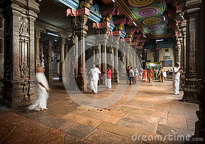 Sri Meenakshi Hindu Temple Editorial Stock Image