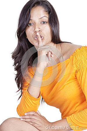 Srilankan girl on white background