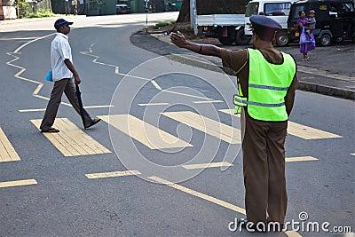 SriLankan Police man Editorial Image