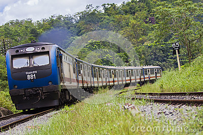 Srilankan Train Editorial Stock Image