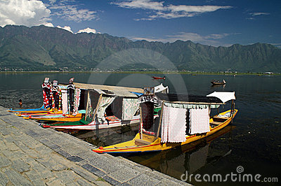 Srinagar and Dal lake in Indian Kashmir