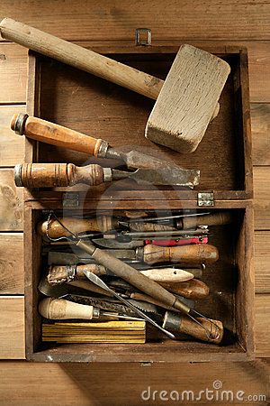Free Srtist Hand Tools For Handcraft Works Stock Photo - 13666100