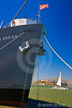 SS Jeremiah O Brien Liberty ship, San Francisco Editorial Stock Image