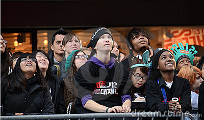 SS4 Fans in Times Square Editorial Photo