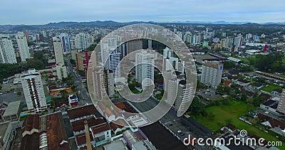 Städer i Sydamerika Brasilianska städer Joinville stad, delstaten Santa Catarina i Brasilien arkivfilmer