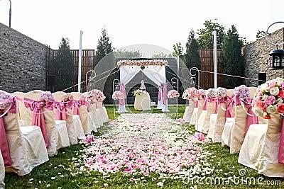 Hochzeit Szene Im Freien Lizenzfreie Stockbilder - Bild: 29776609