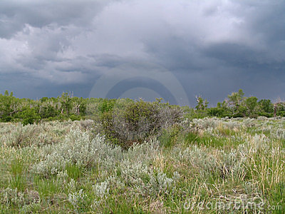Stürmische Landschaft