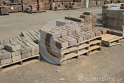 Stützmauer-Ziegelsteine