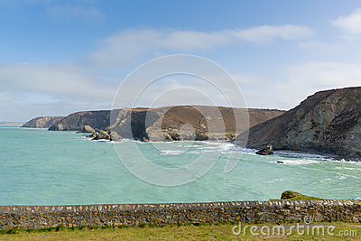 St Agnes coast view North Cornwall England UK