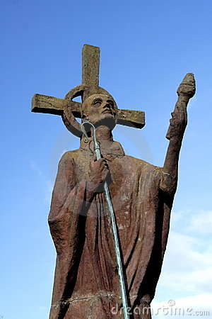 Free St Aidan S Statue Royalty Free Stock Image - 2106776