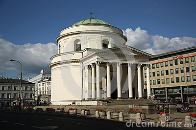 St. Alexander s Church in Warsaw (Poland) Editorial Stock Image