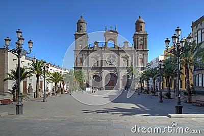St Ana Cathedral, Las Palmas Gran Canaria, Spain Editorial Image