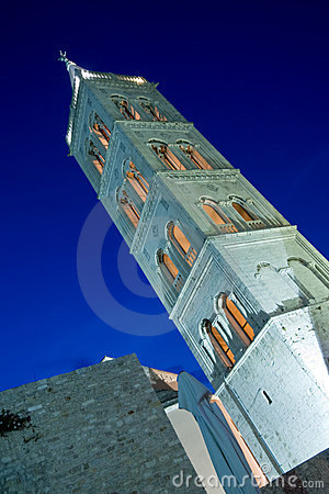 St.Anastasia church belfry in the dusk