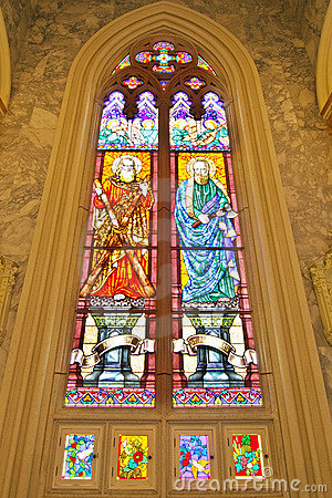 Free ST.Andrew  And  ST.Matthias Stained Glass Stock Photos - 16628103