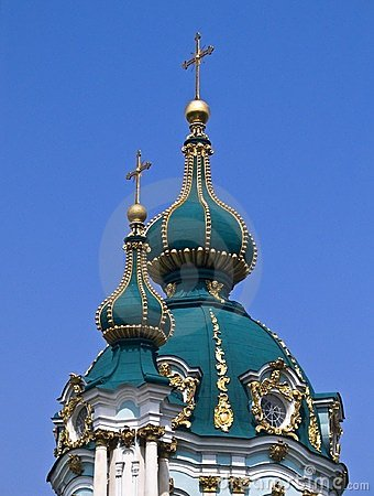 The St. Andrew Basilica in Kiev, Ucraine