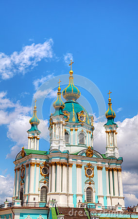 St. Andrew church in Kiev, Ukraine