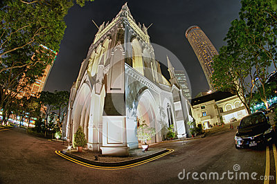 St. Andrew s Cathedral, Singapore Editorial Stock Image