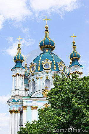 Free St. Andrew S Church In Kiev Royalty Free Stock Photography - 19716637