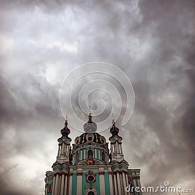 Free St Andrew`s Church, Kiev Royalty Free Stock Photography - 98845127