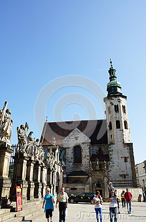 St. Andrew s Church in Krakow Editorial Stock Image