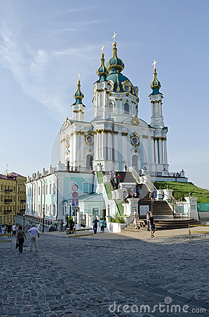 St. Andrew s church in Kyiv Editorial Stock Photo
